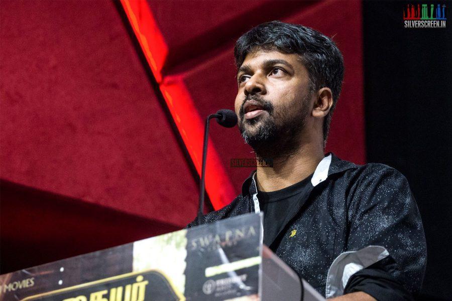 MAdhan Karky At The Nadigaiyar Thilagam Press Meet