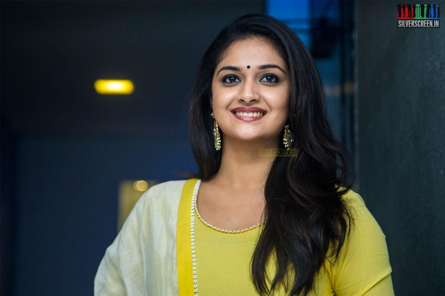 Keerthy Suresh At The Nadigaiyar Thilagam Press Meet