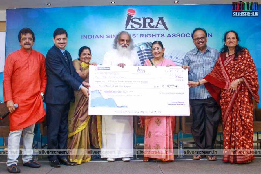 KJ Yesudas, SP Balasubrahmanyam, KS Chithra And Others At The Indian Singers Rights Association Press Meet