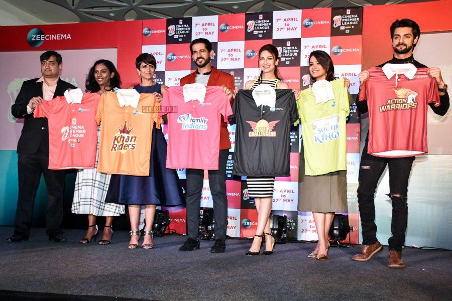 Mandira Bedi, Hiten Tejwani, Anita Hassanandani At The Launch Of Cinema Premier League