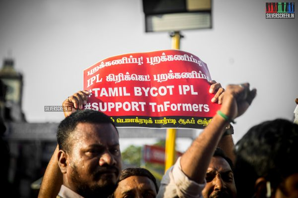 Protest Against The IPL Match In Chennai