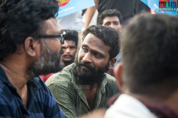 Vetrimaaran Protest Against The IPL Match In Chennai