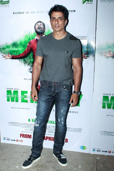 Prabhu Deva, Tamannaah Bhatia, Sonu Sood At The Screening Of Mercury