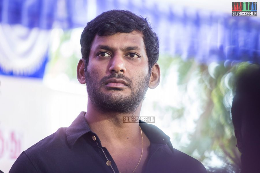 Vishal At The Nadigar Sangam Protest