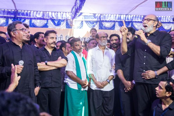 Celebrities At The Nadigar Sangam Protest