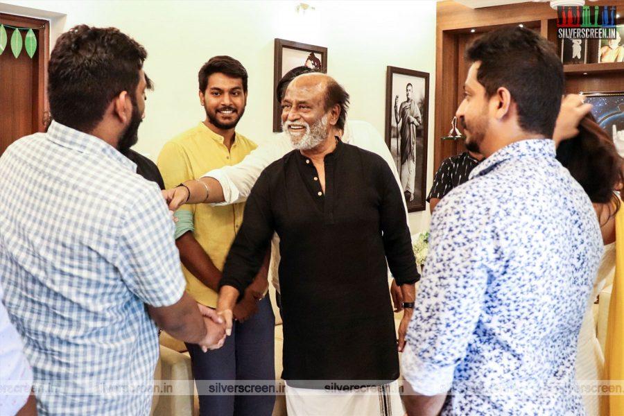 Rajinikanth Meets Karthik Subbaraj & The Team Of Mercury