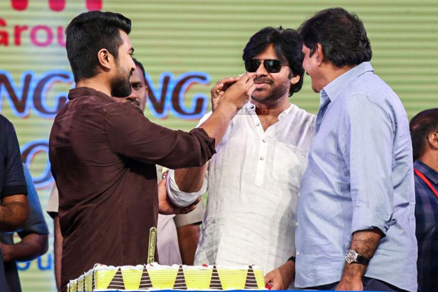 Pawan Kalyan And Ram Charan At The Rangasthalam Success Meet