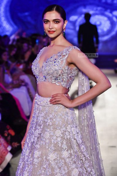 Deepika Padukone At The Manish Malhotra's-The Walk of Mijwan