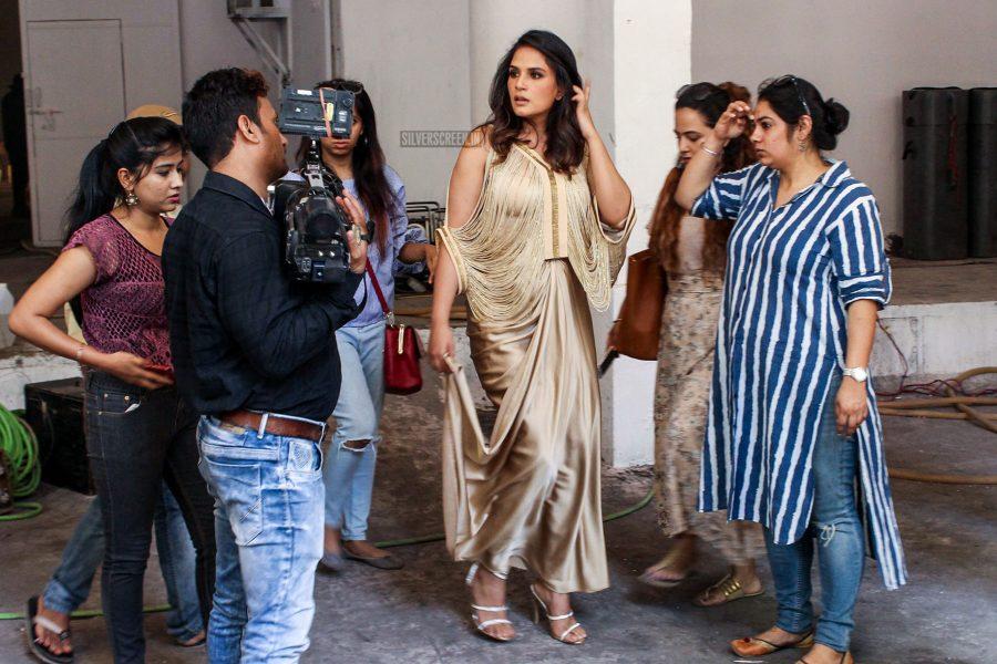 Richa Chadda During A Film Shoot