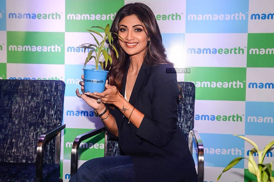Shilpa Shetty At The Launch Of Mamaearth