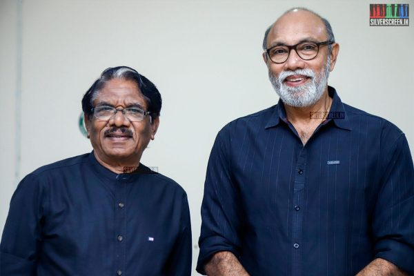 Bharathuraja and Sathyaraj At The MGR Sivaji Academy Awards