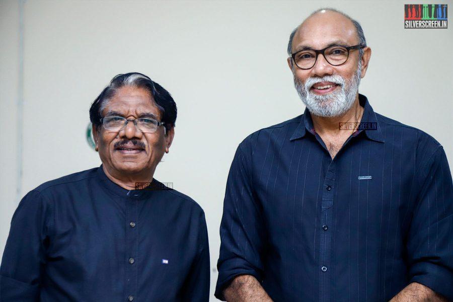 Bharathuraja and Sathyaraj At The MGR Sivaji Academy Awards