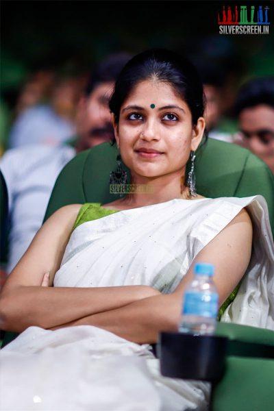 Aditi Balan At The MGR Sivaji Academy Awards