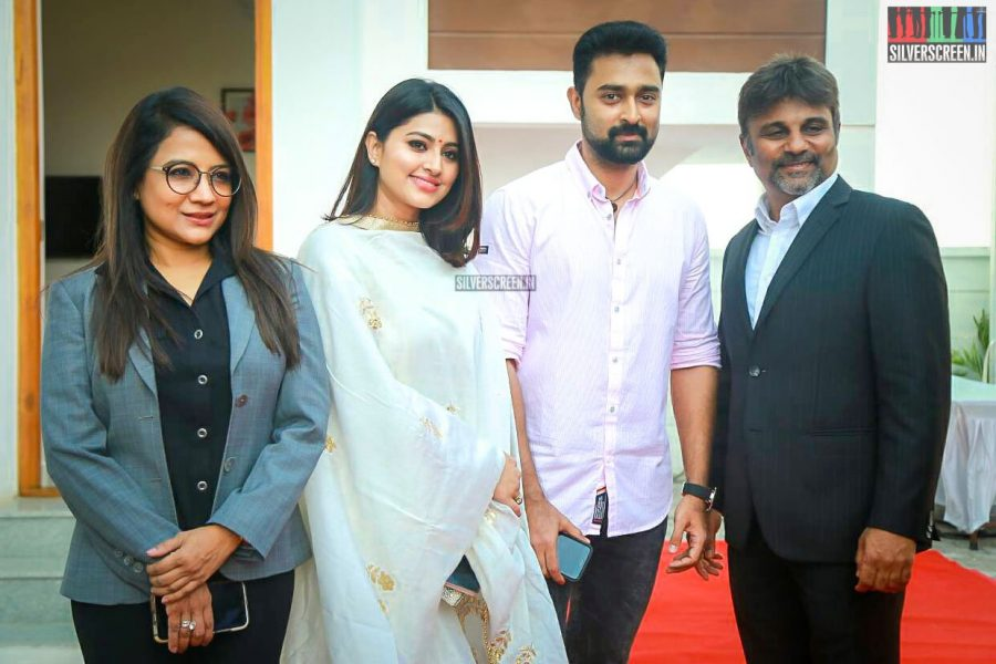 Sneha & Prasanna At The Official Hand-Off Ceremony For New Buyers Of The White Villas