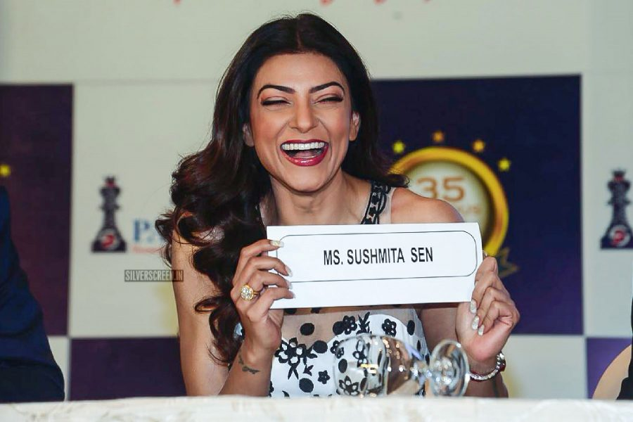Sushmita Sen Seen In A Notte By Marchesa Gown At A Real Estate Event