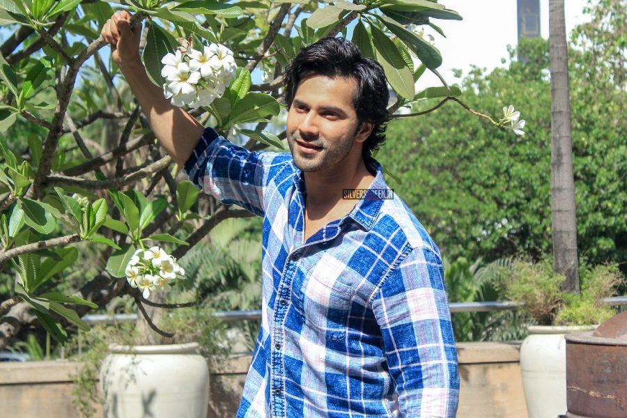 Varun Dhawan During The Promotions Of October