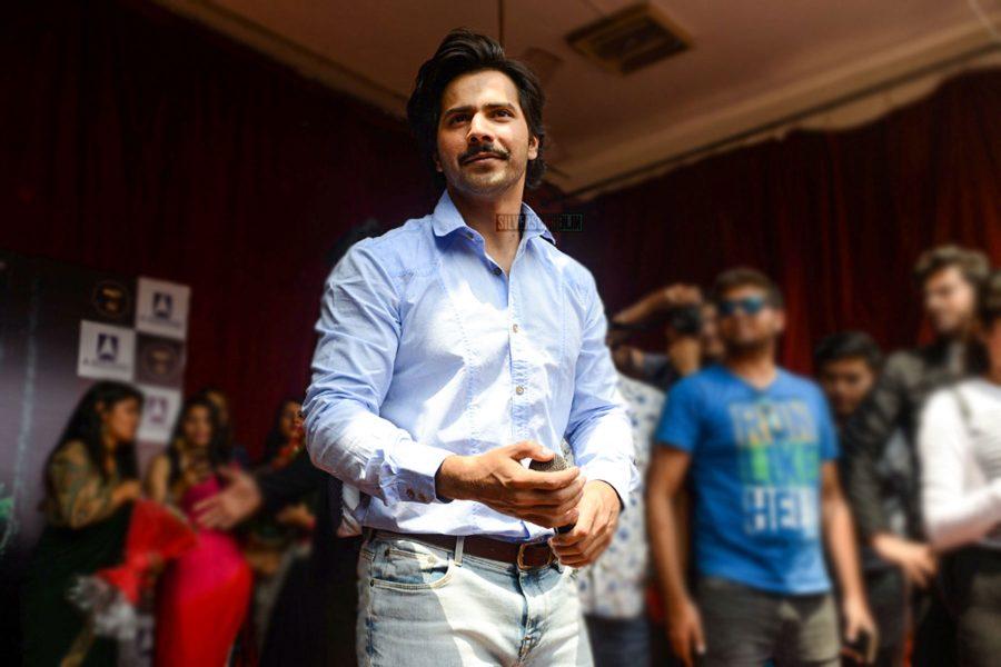 Varun Dhawan Promotes October At Delhi's Laxmibai College