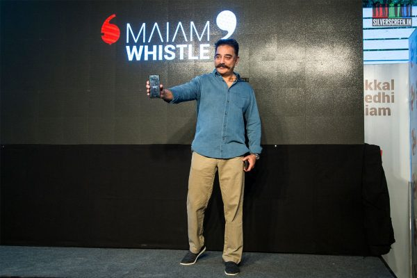 Kamal Haasan At The 'Maiam Whistle' App Launch