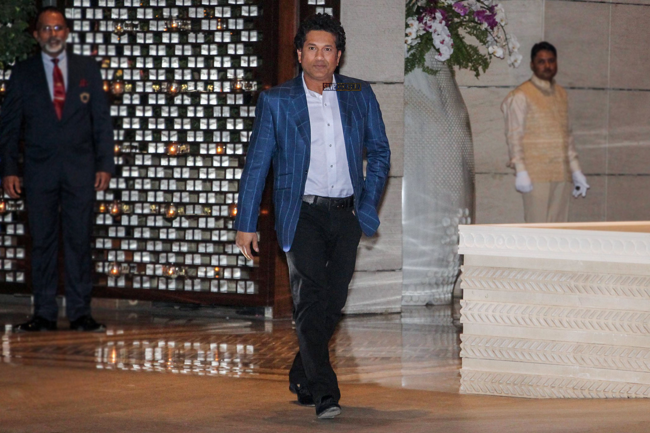 Image result for Sachin Tendulkar at isha ambani's engagement