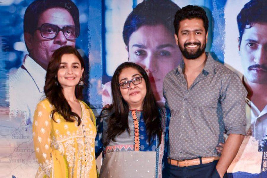 Alia Bhatt, Meghna Gulzar, Vicky Kaushal At The Raazi Success Meet