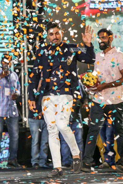 Allu Arjun At The Naa Peru Surya Naa Illu India Pre-Release Event