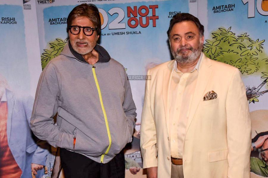 Amitabh Bachchan & Rishi Kapoor At The 102 Not Out Screening