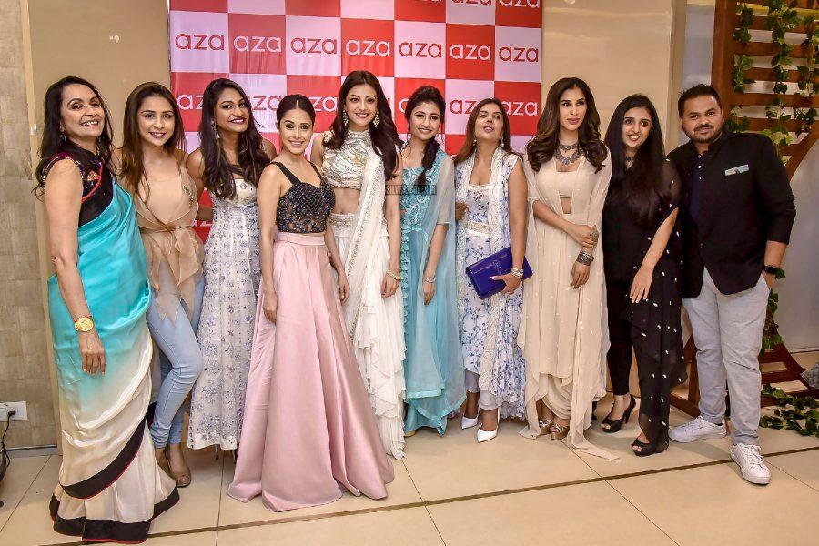 Kajal Aggarwal At The Aza Fashions Holiday Edit Curated By Esha Amiin