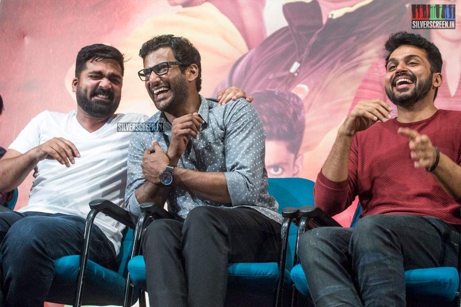 Karthi Sivakumar, Silmabarasan, Vishal At The Ezhumin Trailer Launch