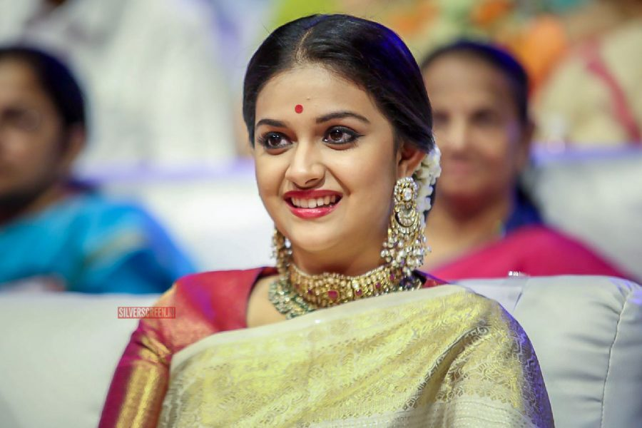 Keerthy Suresh At The Mahanati Audio Launch