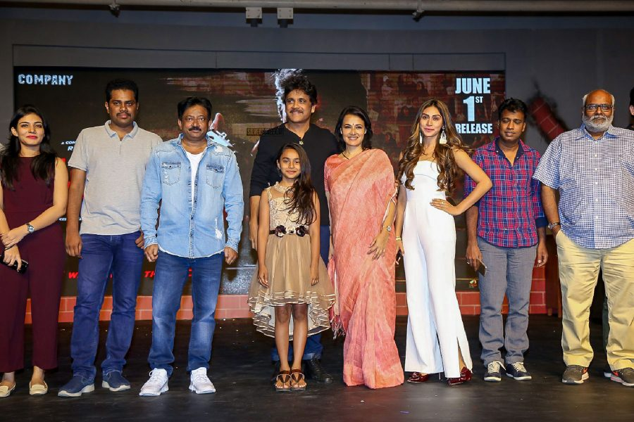 Nagarjuna, Amala, Myra Sareen & Others At The Officer Audio Launch