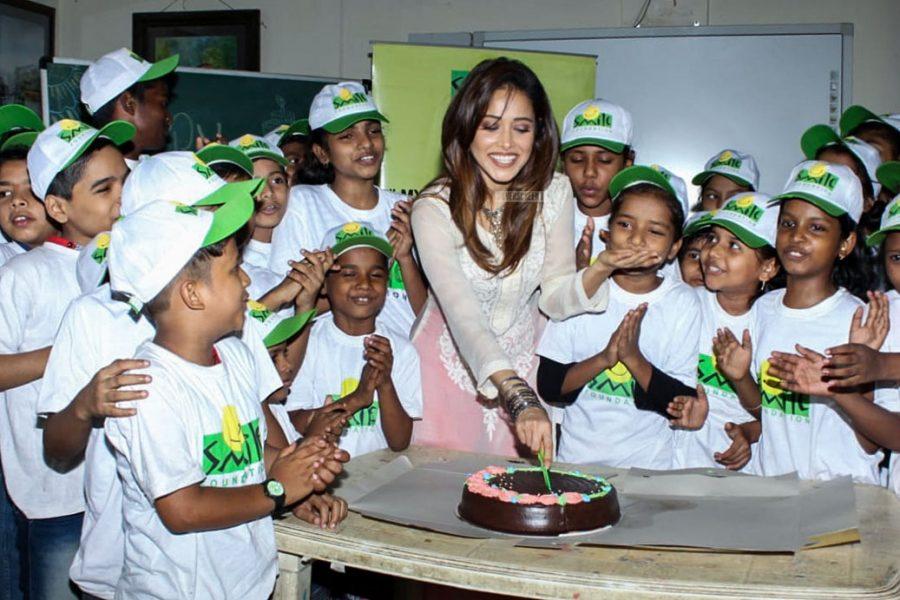 Nushrat Bharucha Birthday Celebrations At Smile Foundation