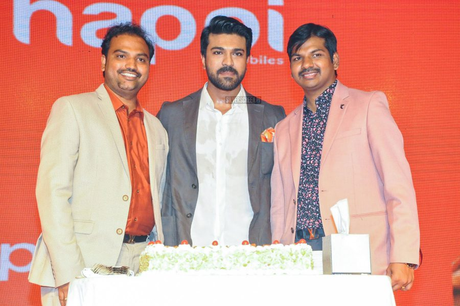 Ram Charan At A Mobile Store Launch