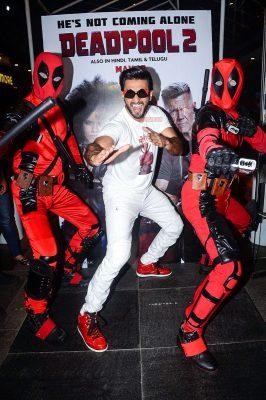 Ranveer Singh During The Promotions Of Deadpool