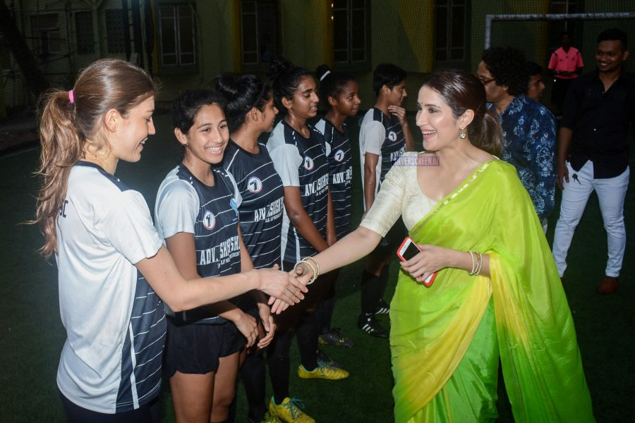 Sagarika Ghatge During The Promotions Of Monsoon Football