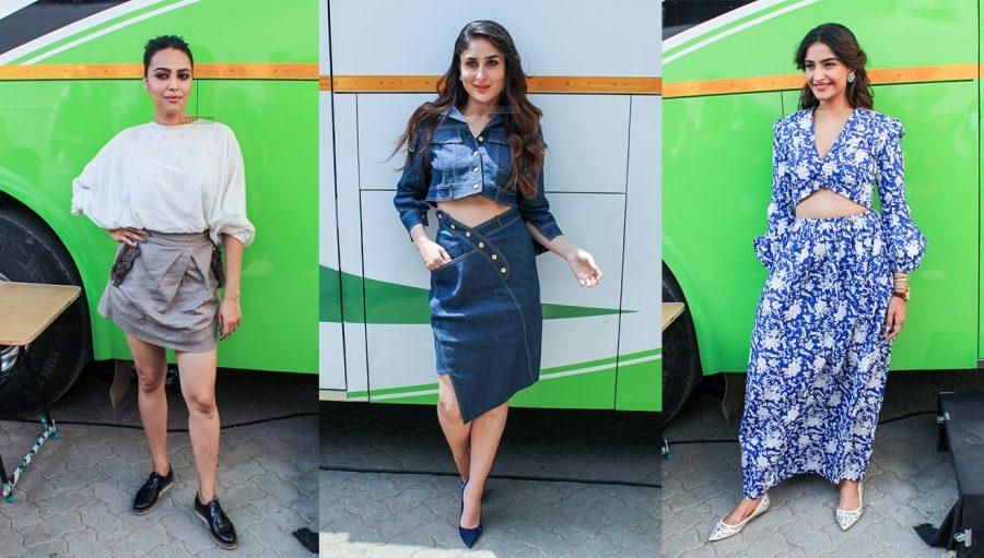 Sonam Kapoor, Kareena Kapoor & Swara Bhaskar At The Veere Di Wedding Promotions