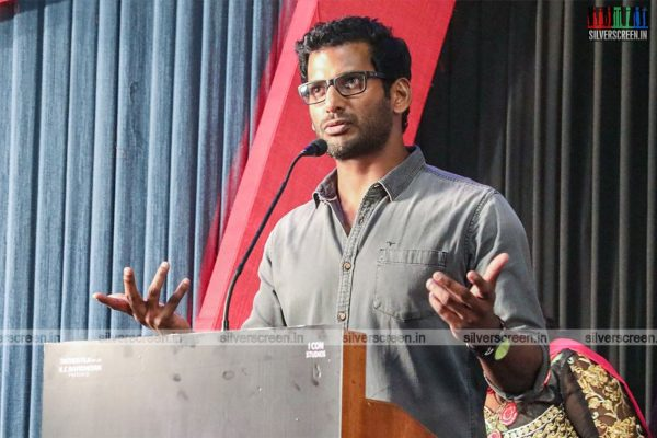 Vishal At The Nungambakkam Trailer Launch