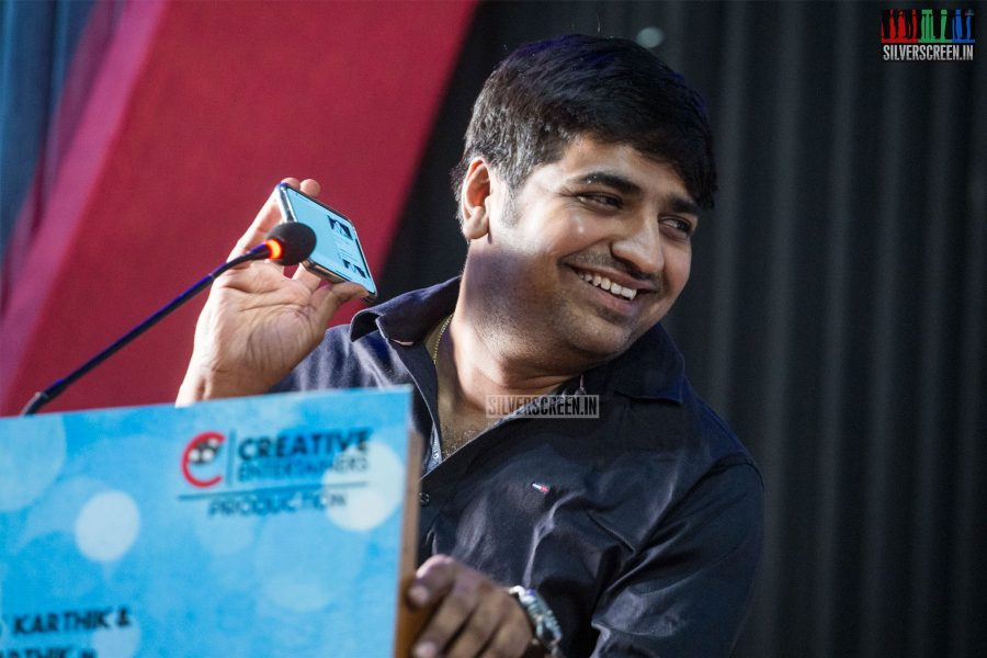Sathish At The Mr. Chandramouli Press Meet