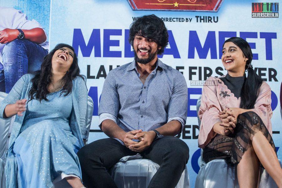 Gautham Karthik, Regina Cassandra, Varalaxmi At The Mr. Chandramouli Press Meet