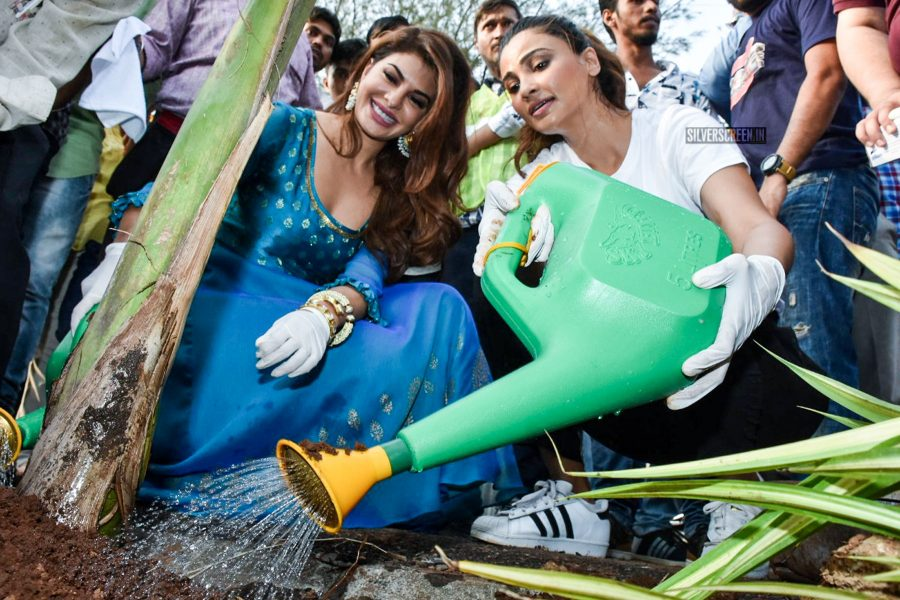 Jacqueline Fernandez, Daisy Shah At A Tree Plantation Event On World Environment Day
