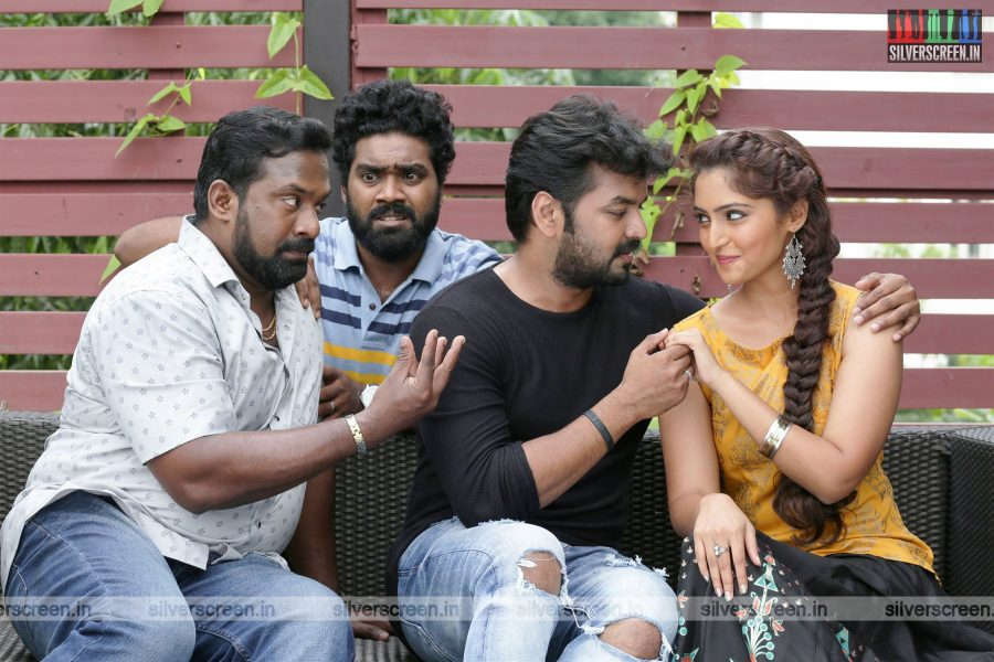 Jarugandi Movie Stills Starring Jai, Reba Monica John, Robo Shankar And Others