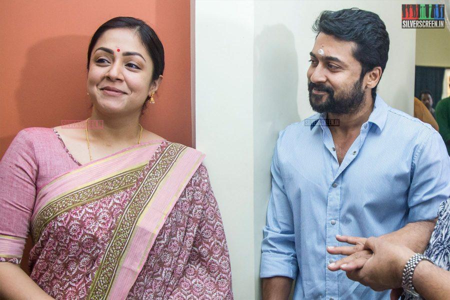Suriya & Jyothika At The Kaatrin Mozhi Movie Launch
