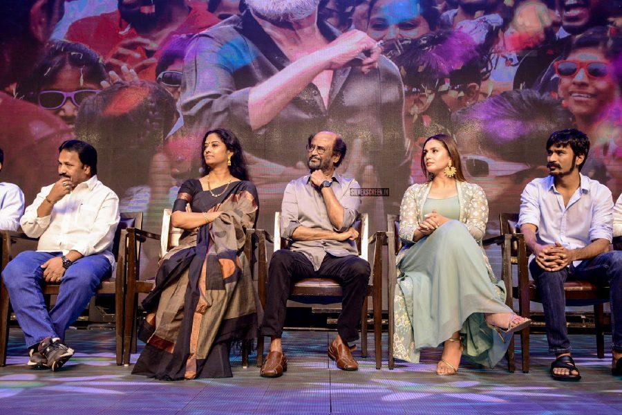 Rajinikanth, Dhanush, Pa Ranjith, Huma Qureshi & Others At The Kaala Press Meet