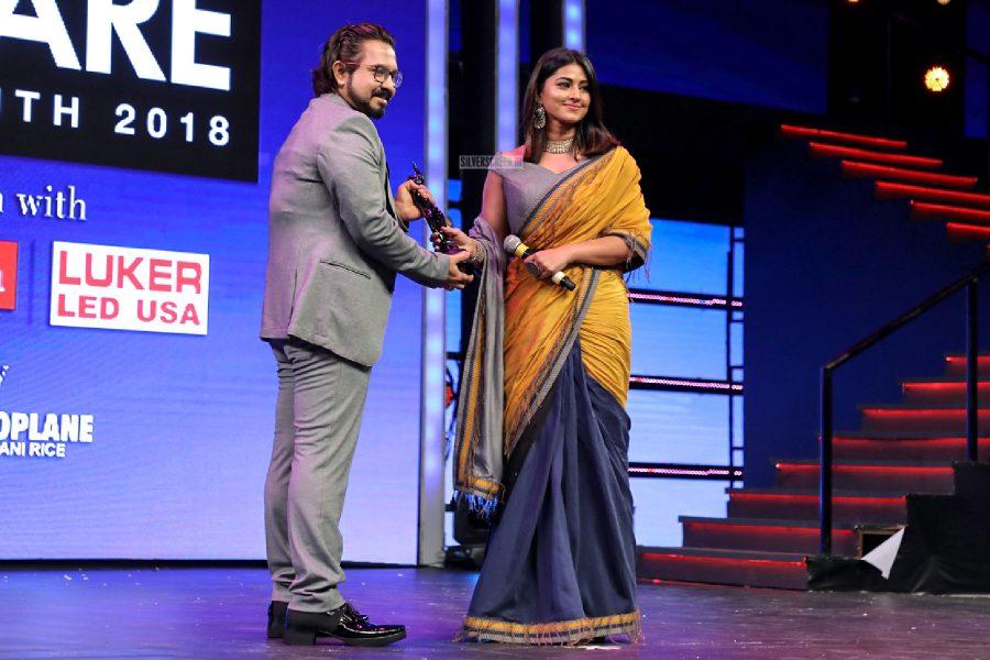 Sneha AT The 65th Jio Filmfare Awards South 2018