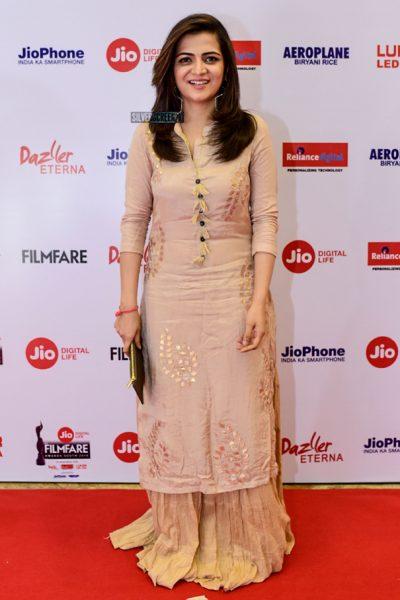 Divyadarshini At The 65th Jio Filmfare Awards South 2018