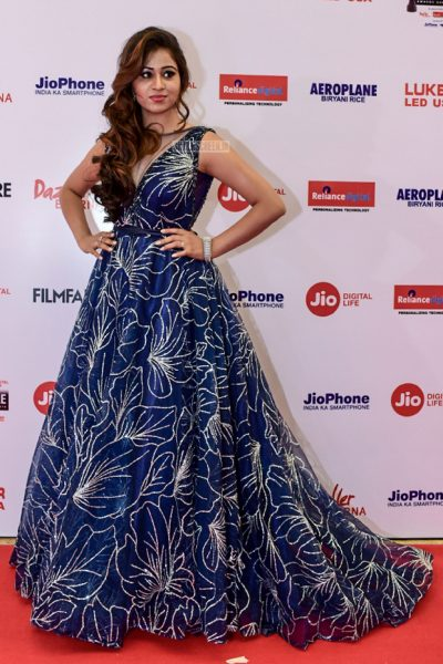 Manali Rathod At The 65th Jio Filmfare Awards South 2018