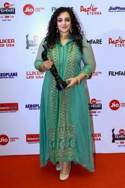 Nithya Menen At The 65th Jio Filmfare Awards South 2018