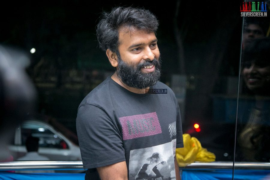 Santhosh Narayanan At The 1st Year Celebrations Of A Salon