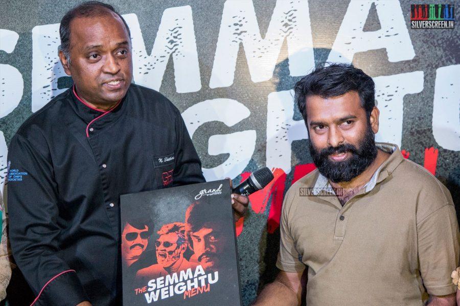 Santhosh Narayanan At The Launch Of 'Semma Weightu Menu'