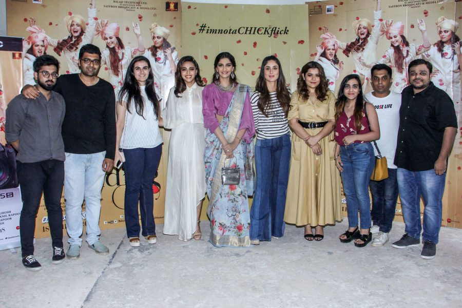 Sonam Kapoor, Swara Bhaskar & Kareena Kapoor At The Veere Di Weeding Promotions