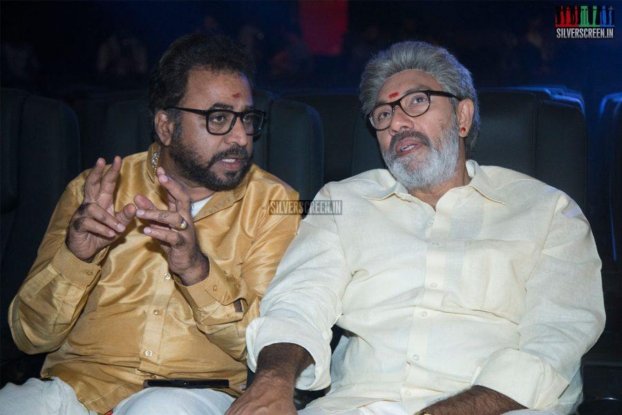 Ponvannan & Sathyaraj At The Kadaikutty Singam Audio Launch